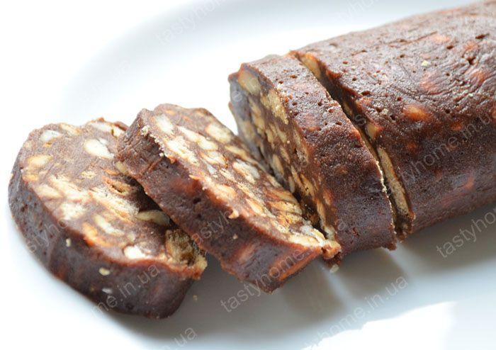 рецепт кондитерской колбаски с печенья