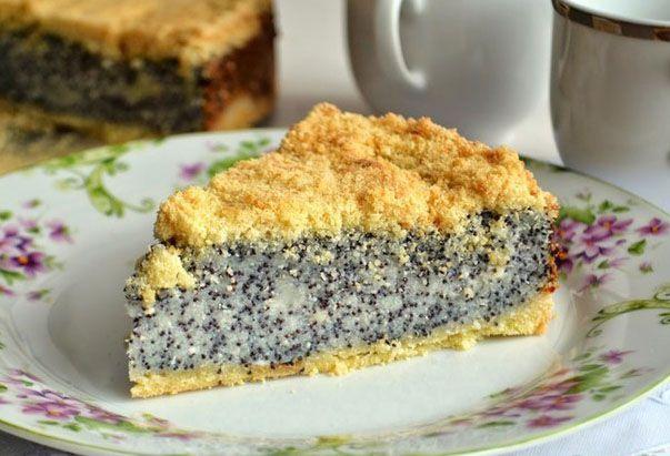 Торт с маковой начинкой рецепт с фото пошагово