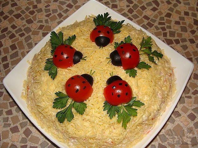 Украшение для салатов своими руками с фото пошаговое