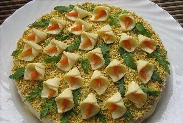 Салаты на день рождения простые и вкусные рецепты фото постные