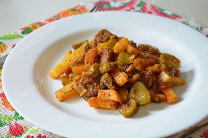 Рецепт азу по-татарски с картошкой пошаговый рецепт с