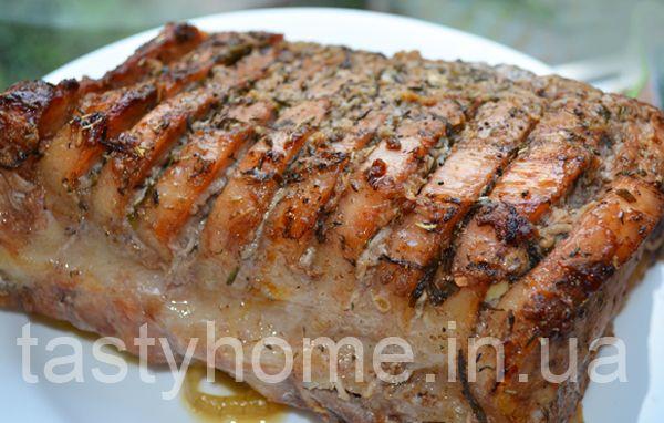 рецепт сочной свинины куском в духовке