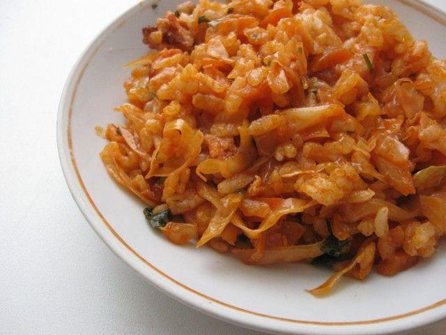 как приготовить в мультиварке рис с капустой