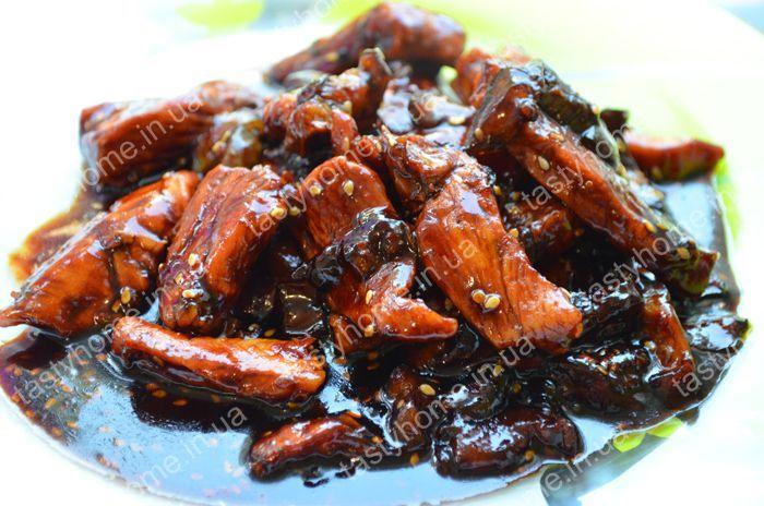 Курица с баклажанами по китайски рецепт