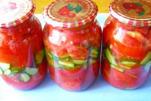 Как сделать салат на зиму из огурцов и помидор