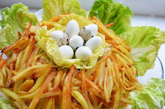 Гнездо глухаря салат рецепт с языком 2