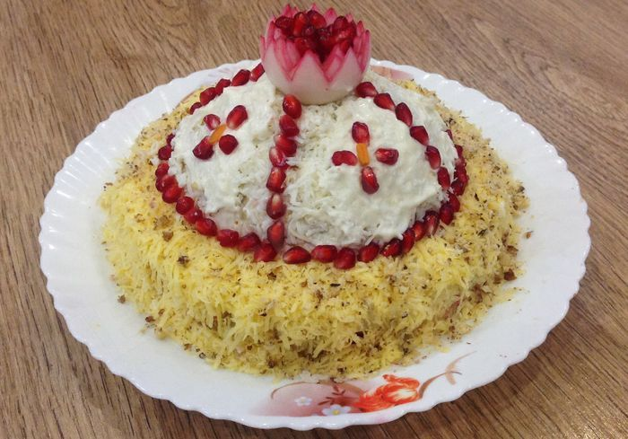 салат из пекинской капусты с курицей красивый и очень вкусный фото рецепт