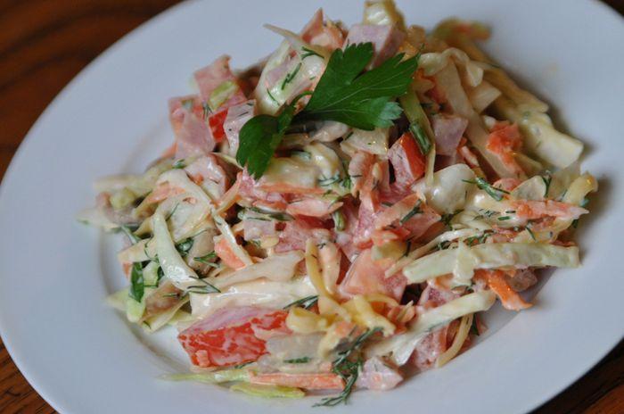 Салат венеция с колбасой пошаговый рецепт